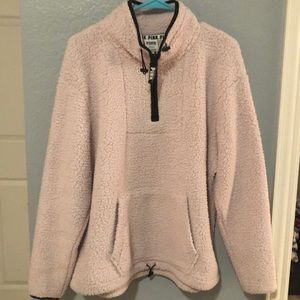 light pink sherpa pullover!